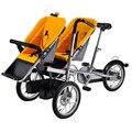 Gêmeos Carrinhos de Bebê Mãe Bicicleta Carrinho De 2 Carrinho De Bebês Bicicleta Assento Duplo Bebê Não Taga Bicicleta Carrinhos de Aço Carbono