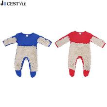 0-24M Baby Jumpsuit Boys Girls Mop Clothes Long Sleeve Swob Romper Outfit
