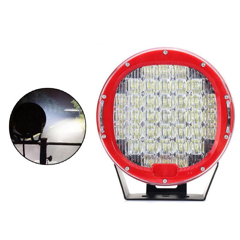 185w 9inch Red Black Round led driving light 37leds 12V 24V led off road light work light for SUV ATV UTV Lamp 1Piece