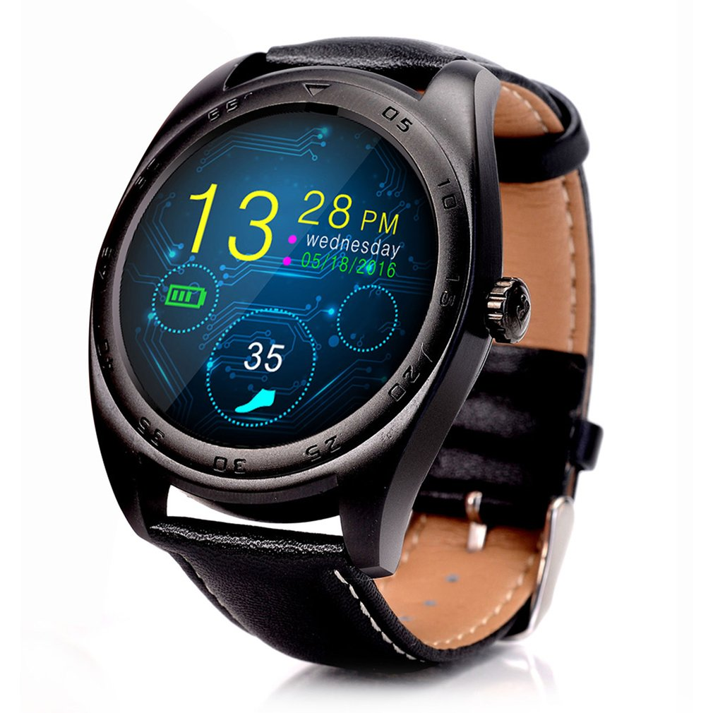 K89 Bluetooth 4.0 Heart Rate Monitor Call Message Reminder Sports Pedometer Anti-lost Leather Strap Smartwatch For Android IOS 2017 new no 1 g8 smartwatchs bluetooth 4 0 sim card call message reminder heart rate monitor smart watchs for android apple