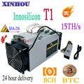 Usado BCH BTC mineiro INNOSILICON Dragonmint T1 15TH/s antminer Asic Com PSU Melhor Do Que Whatsminer M3 M10 SHA256 s9 S11 S15 T15