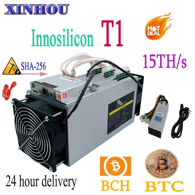 Utilizzato BTC BCH minatore INNOSILICON Dragonmint T1 15TH/s SHA256 Asic Con PSU Meglio di Whatsminer M3 M10 antminer s9 S11 S15 T15