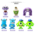 7cm Monsters Inc Monsters University Mike Sully Mini PVC Action Figures Toys Dolls Boys Toys Gifts