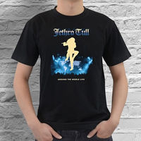 Tricolor Jethro Tull Years Black T Shirt Cotton S M L XL XXL XXXL Size High