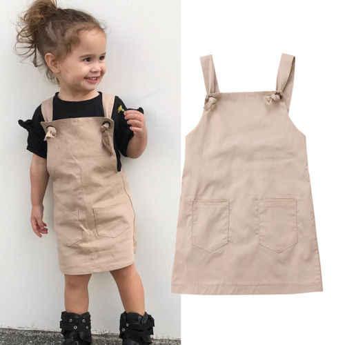 6271e198647 2018 новые модные милые Дети маленьких Платья для девочек  одежда принцессы  вечерние летние ремень трусы
