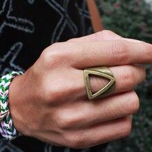 Unique Geometría Anillo Hombres Anillo Antiguo Super Cool Extranjero anillos de Titanio Anillos de Acero Inoxidable Para Hombre Pesado Punky roca