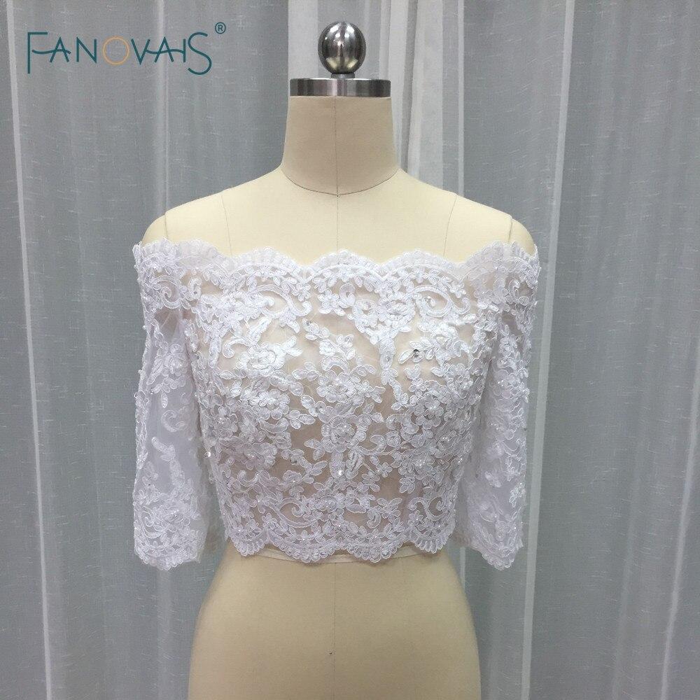 Elegant 3/4 Sleeve Lace Bolero Wedding Accessories Jacket