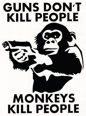 Classic Toys Just Dont Kill People Monkeys Do Vinyl Decal Window Bumper Sticker Funny 15cm