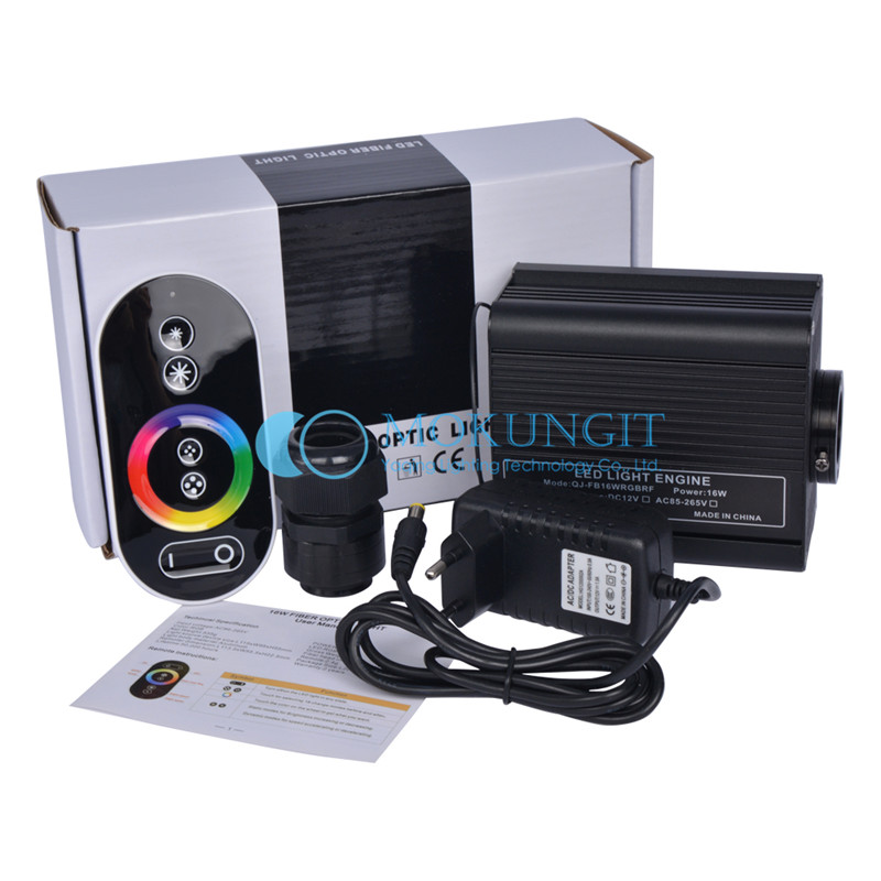 16W RF touch remote LED RGB Fiber Optic light engine for night sky ceiling AC86-265V input wholesale  10w rgb light with remote control special wholesale 10w infrared remote fiber optic lights
