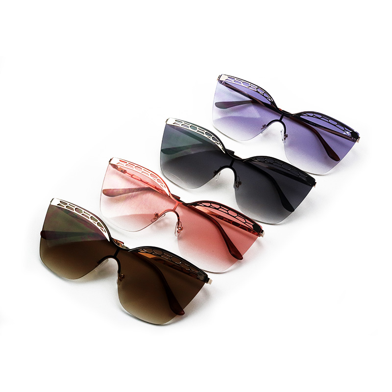 c189a79fbc Comprar Gafas de sol de gran tamaño de lujo transparente gradiente gafas de  sol marco grande Vintage gafas UV400 gafas para mujer Online Baratos