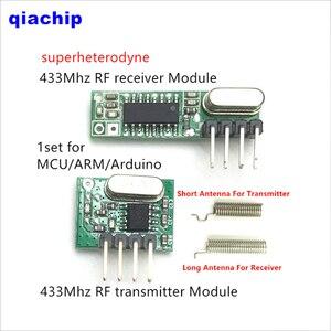 Image 5 - 1Pcs 433 Mhz Superheterodyne RF Ontvanger en Zender Module Voor Arduino