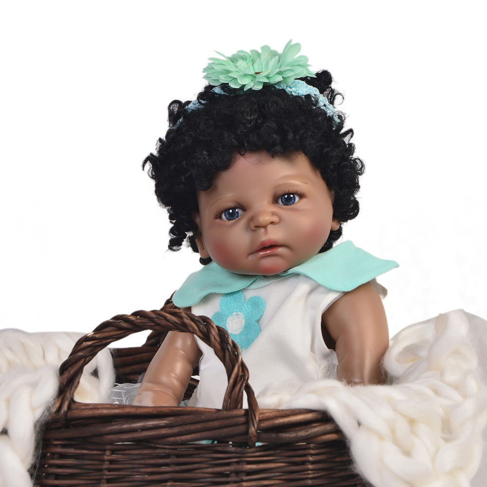 55cm Bebes Reborn Black Doll Full Silicone body  Girl Toy Reborn Baby Doll Gift for Children gift can bathe boneca reborn55cm Bebes Reborn Black Doll Full Silicone body  Girl Toy Reborn Baby Doll Gift for Children gift can bathe boneca reborn
