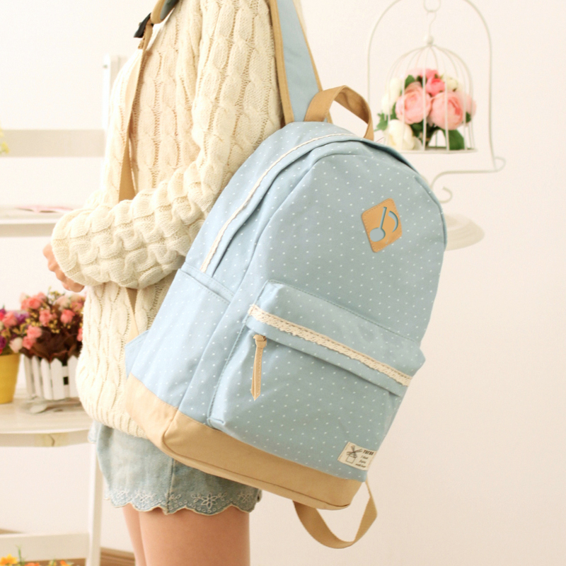 YuFan 2017 Newest Limited Edition Fresh Cute Preppy Style Solid Soft Canvas Polyester Women Backpack with