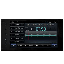 For capacitive HD1024*600 touch screen Toyota Universal car dvd player GPS with 3G/WIFI/mirror link/BT/Radio/USB/DDR 3 1G/16G