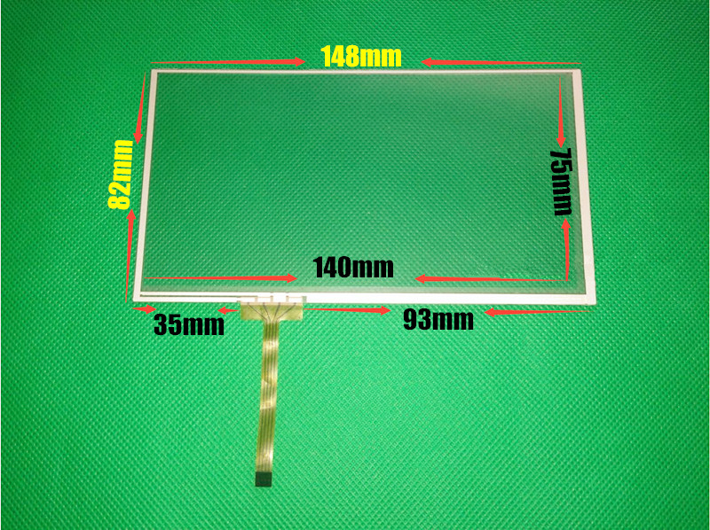 Original 6.1 inch 6.2 inch 148mm*82mm 149*83mm 4 wire Resistive Touch screen digitizer panels GPS Navigation Touch Screen Panels amt 146 115 4 wire resistive touch screen ito 6 4 touch 4 line board touch glass amt9525 wide temperature touch screen