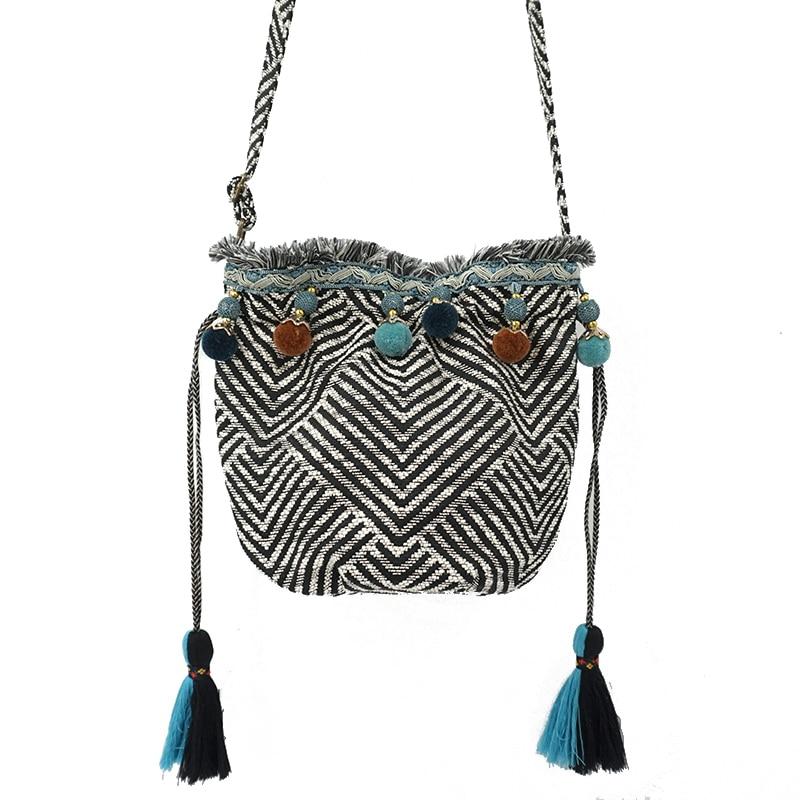 Italian Style Fringed Boho Hippy Festival Style Drawatring Handbags 3 Colours
