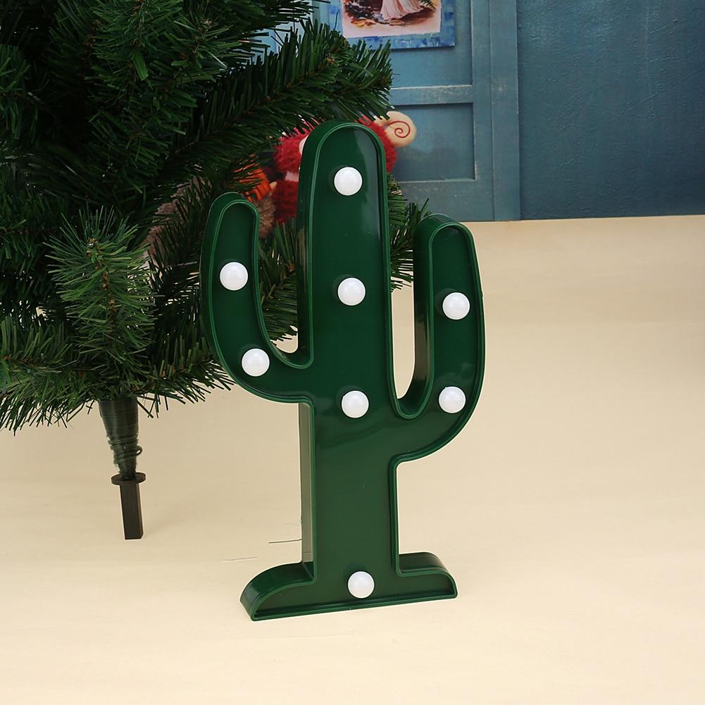 Luzes da Noite 3d led cactus decoração verde Formato : Cactus