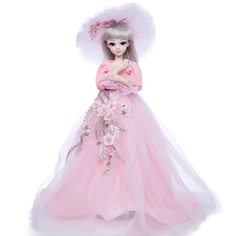 Princess anna 1/3 60CM BJD doll DIY fashion wig doll  dressed princess doll girl Toys Princess anna 1/3 60CM BJD doll DIY fashion wig doll  dressed princess doll girl Toys
