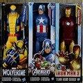 The Avengers Capitão América Wolverine Spiderman Marvel Homem De Ferro Do Flash Brinquedo Figuras de Ação 30 CM PVC Superhero Thor IronMan