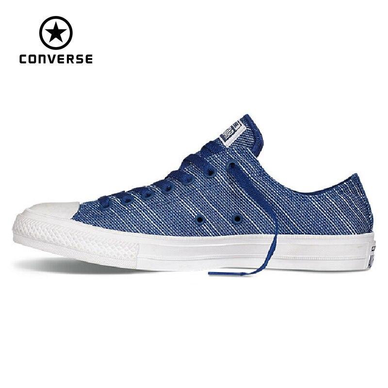 Prix pour D'origine Converse Chuck Taylor All Star II de toile chaussures hommes et femmes sneakers classique de Planche À Roulettes Chaussures 151091C