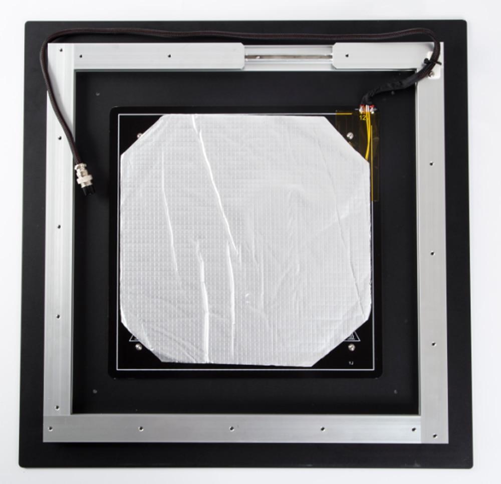 Pièces de rechange originales en aluminium de lit chauffant de Max heatbed 510*510*3 MM MK3 12 V pour des pièces de Hotbed d'imprimante de la Creality CR-10 S5 3d