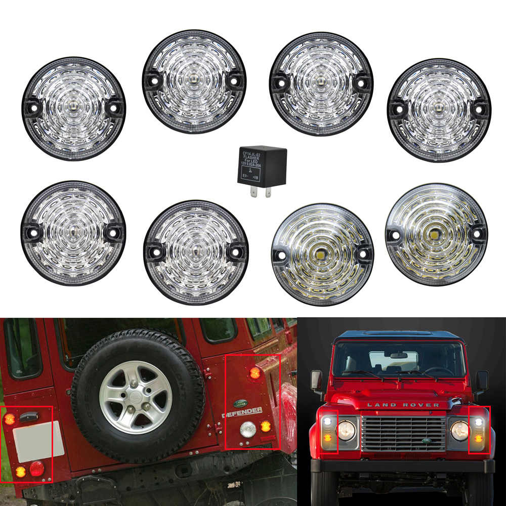Detail Feedback Questions about 8pcs Smoked Lens For Land Rover