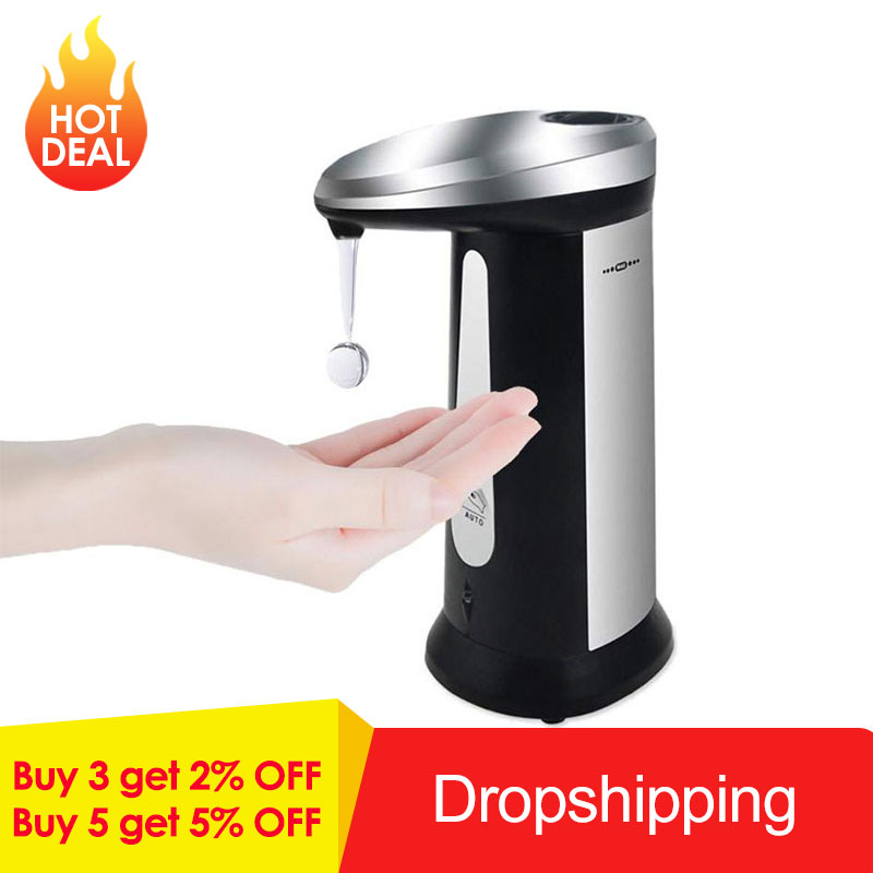 400ml Bathroom Automatic Liquid Soap Dispenser Smart Sensor Touchless ABS Electroplated Sanitizer Dispensador For Smart Homes400ml Bathroom Automatic Liquid Soap Dispenser Smart Sensor Touchless ABS Electroplated Sanitizer Dispensador For Smart Homes