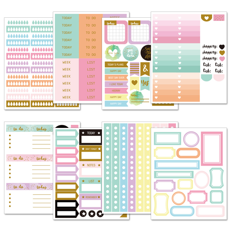 Lovedoki Handmade Sticker Decorative Planner Dokibook Notebook Accessories Bullet Journal Stickers Scrapbooking Stationery Store