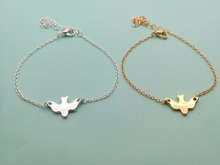 30PCS- Tiny Peace Dove Bracelet Soar Flying Birds Bracelet Little Cute Swallow Baby Bird Bracelets Abstract Bracelets