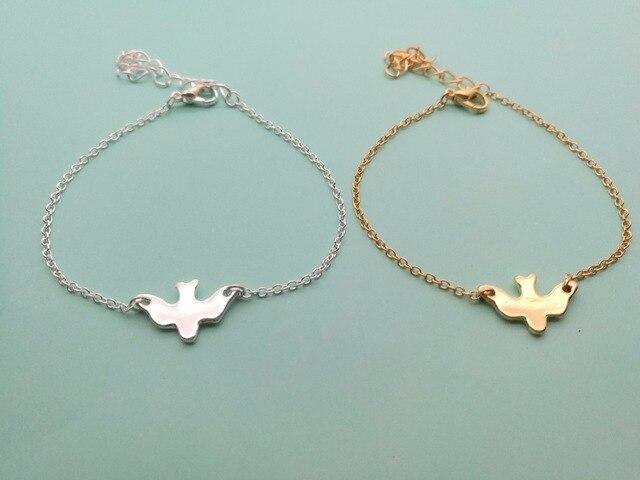 30pcs Tiny Peace Dove Bracelet Soar Flying Birds Little Cute Swallow Baby Bird Bracelets