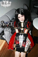 American hot game Alice Madness Returns Poker clothes Halloween Cosplay Costume dress free shipping