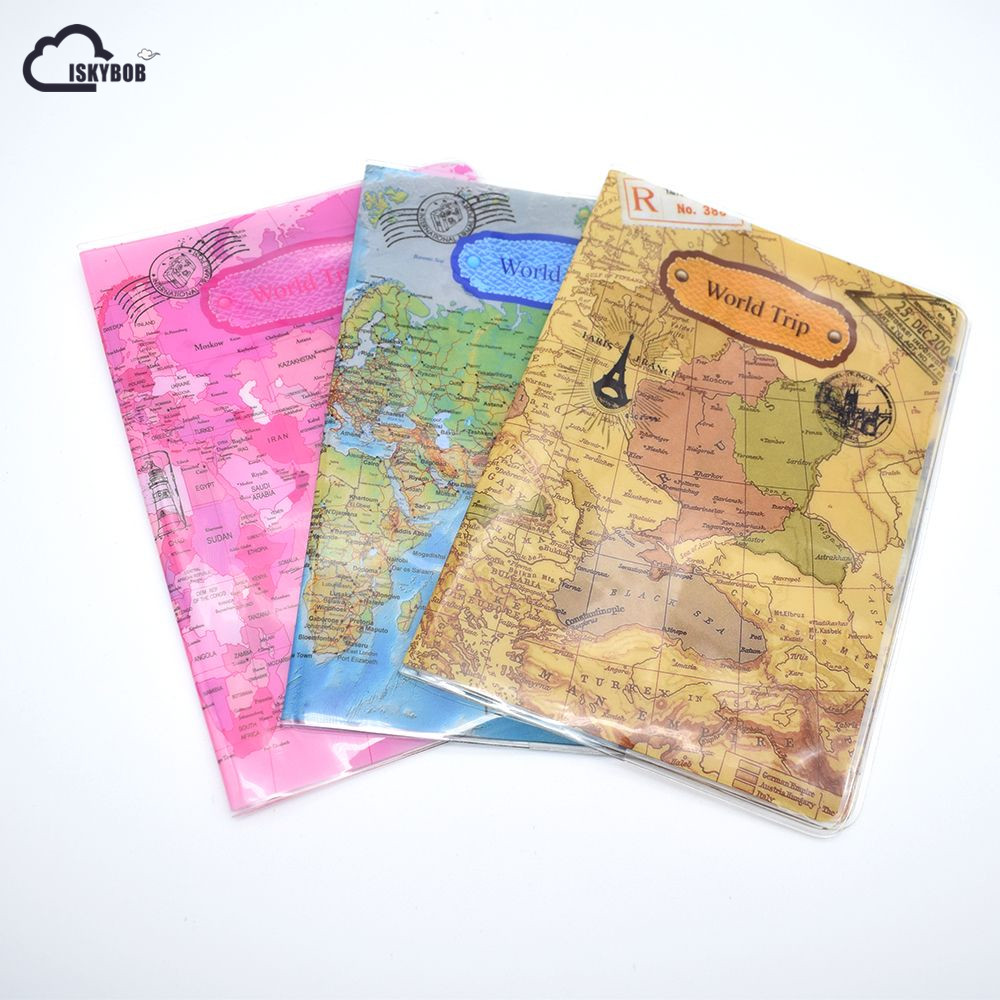2018 New World Trip Map Travel Passport Covers for Men , PVC Leather ID Card Bag Passport holder Passport Wallets 14*10cm 3d design vintage world trip passport cover id credit card bag pvc leather passport holder 14 9 6cm
