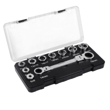 16 IN 1 Activities Ratchet Wrench Set Adjustable Spanner With 6-24mm Socket Wrench Adapter Drive Socket Torque Wrench Socket сетевое зарядное устройство ginzzu 2 5a 2xusb кабель micro usb 1 3 метра черное