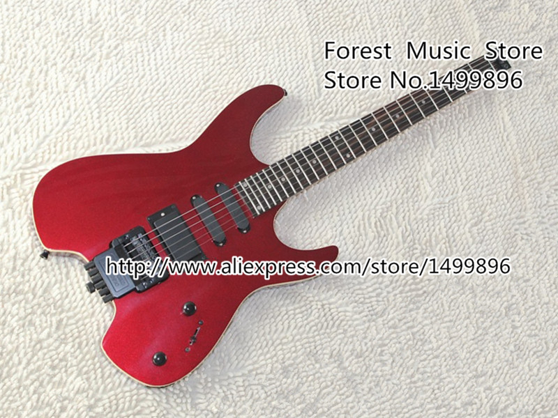 High-quality Chinese Musical Instrument Red Steinberg Z-Series Headless Electric Guitar Body & Kits Custom Available high quality custom shop lp jazz hollow body electric guitar vibrato system rosewood fingerboard mahogany body guitar