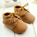 Baby Girls Boys First Walkers Shoes Brown and Pink Color Soft Bottom Toddler Boots 3 Sizes