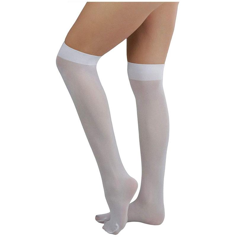 Buy Women's Sexy Stocking Thigh High Stockings Female Lingerie Elastic Stockings Transparent White Stocking Thigh Sheer Pantyhose