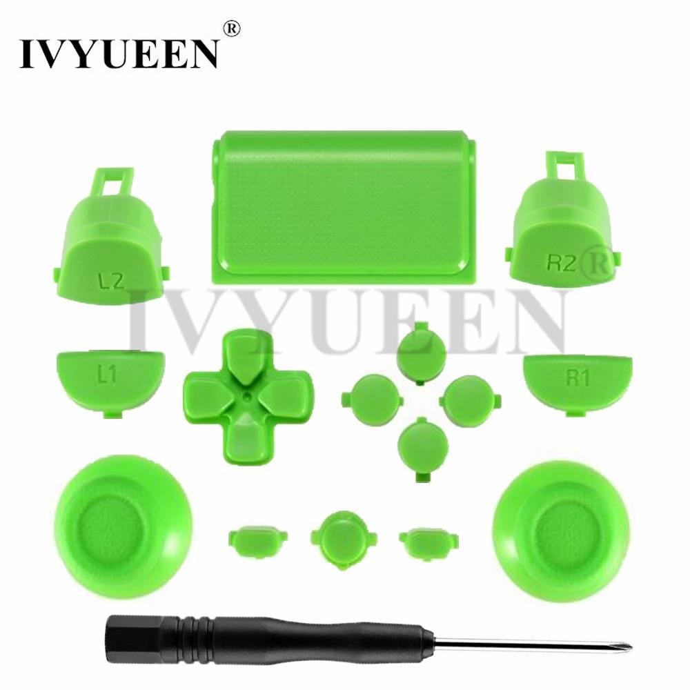 IVYUEEN For Play Station Dualshock 4 PS4 Pro Controller JDM-040 JDS 040 R2 L2 R1 L1 Trigger Button Green White Blue 4.0 Version