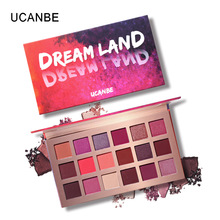 UCANBE New Dream 18 Color Shimmer Matte Eye Shadow Venus XL Girl Hearts Peach Coloured Make-up Tray