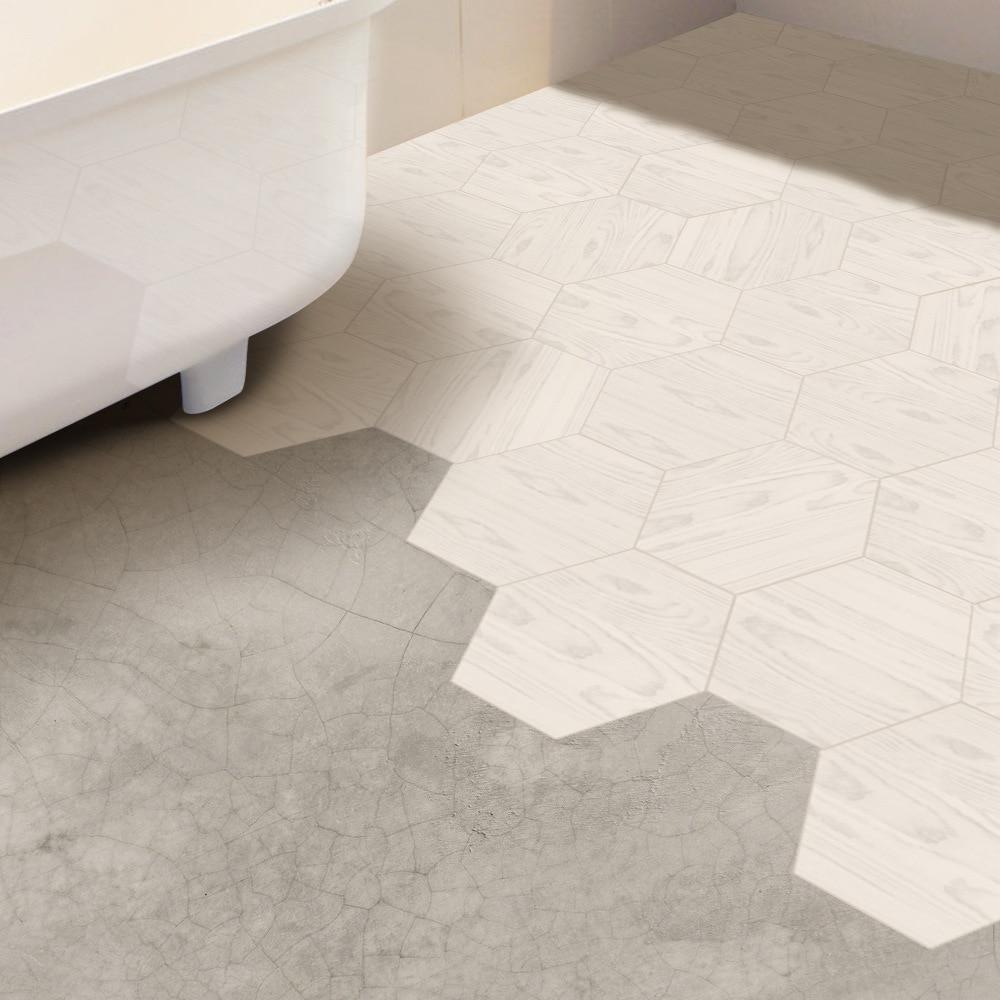 Funlife White Wood Like Floor Tile