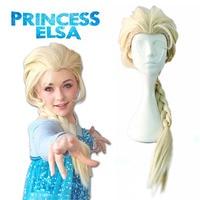 Princess Elsa Wig Snow Queen Elsa Cosplay Wig Cosplay Accessories Golden Fantasy Women Party Halloween Ice