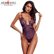 SEBOWEL White/Red/Black Lace Sexy Ribbed Bodysuit Woman Summer Sleeveless Female
