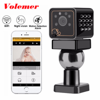 Volemer Wifi Mini IP Security Camera HD 1080P Wireless Nanny Cameras For Home Remote View For