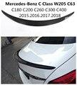 Спойлер из углеродного волокна для Mercedes-Benz C Class W205 C63 C180 C200 C260 C300 2015.2016.2017.2018.2019 крыло Спойлеры Высокое качество аксессуары