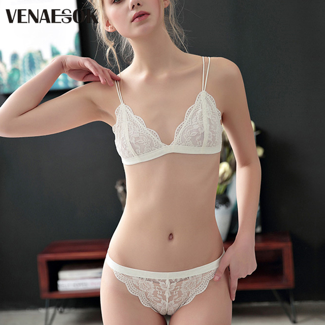 259a0a0ac4 New Flowers Embroidery Bra And Panty Sets Brand White Lace Lingerie Set Transparent  Bras Women Red Sexy Underwear Set Plus Size