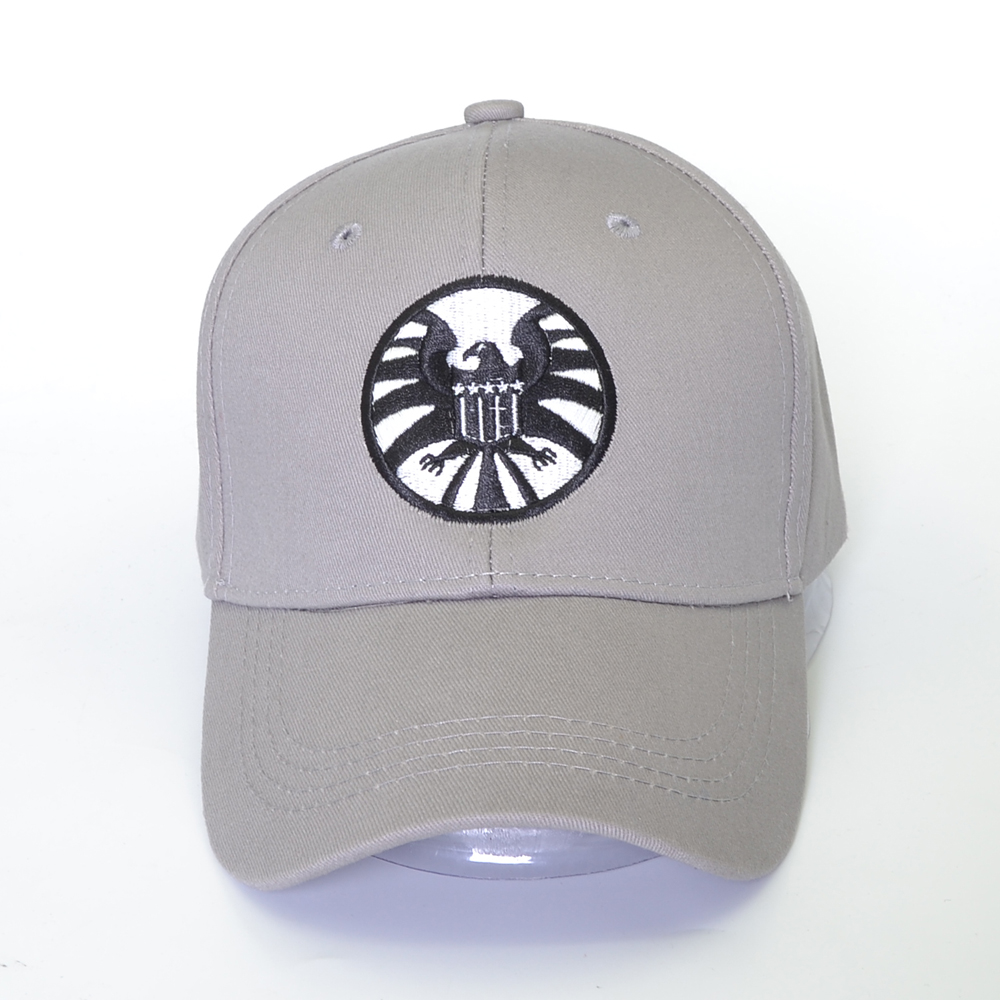 New Captain Marvel Carol Danvers   Caps   Unisex Adjustable Hip Hop Hat Snapback Agents of S.H.I.E.L.D. Shield   Baseball     Caps   bone