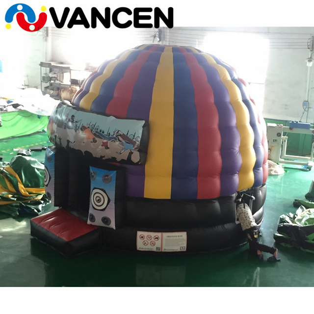 5*4m colorful inflatable jumping castle house mini circular style bouncing playhouse popular inflatable bounce house