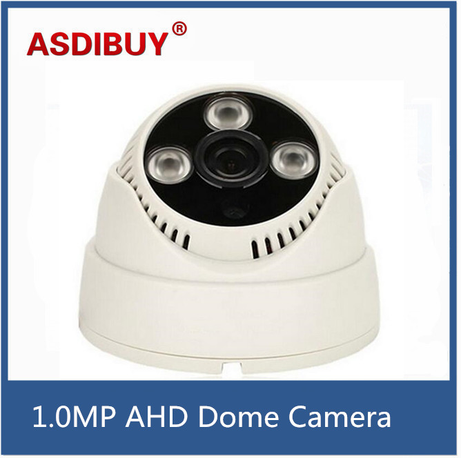 1.0MP AHD Camera CCTV 720P AHD Camera Security Home IR Cut Mini Indoor White Dome Array Infrared Night Vision 1MP Surveillance free shipping sony ccd cctv camera 1200tvl ir cut filter security ir dome camera indoor home security night vision video camera
