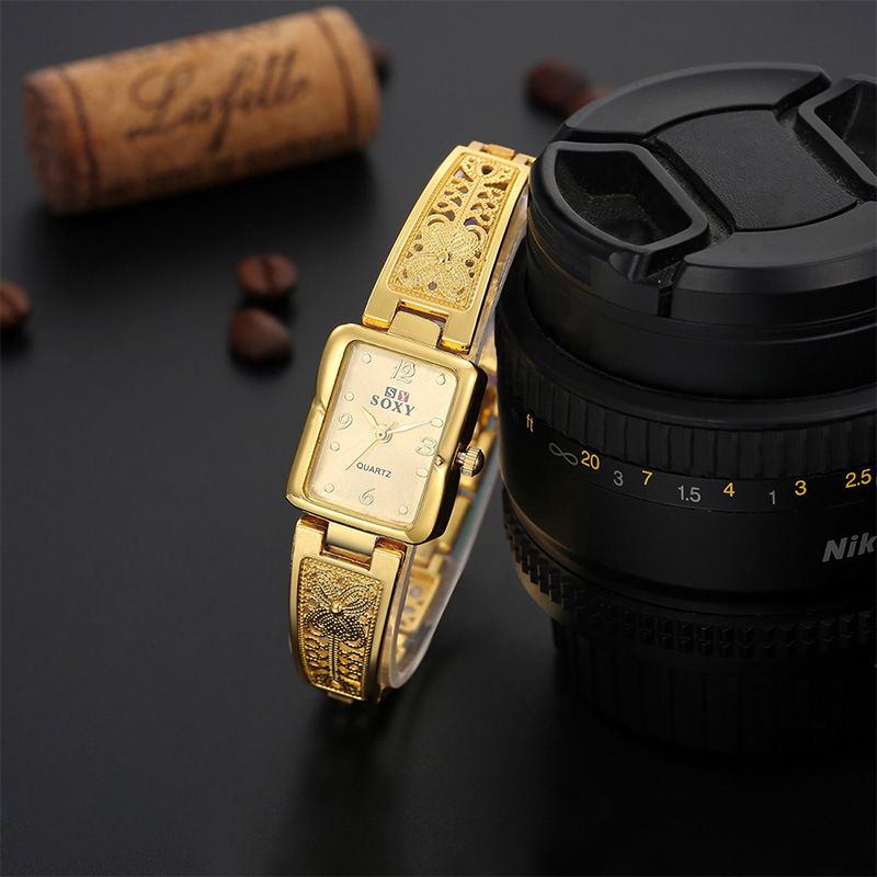 SOXY Women Vintage Watches Rectangle Dial Watch Womens Elegant Fashion Wrist Watch Bracelet Casual Ladies Clock relogio feminino hot sale soxy fashion elegant women watches analog lady s bracelet quartz watch luxury gold wrist watches hours relogio feminino