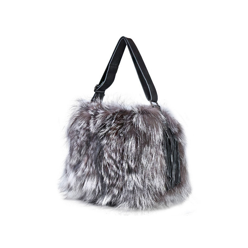 Europe and the United States fashion new fur bag fox  Messenger shoulder bag autumn and winter  section bag 2017 winter new clothes to overcome the coat of women in the long reed rabbit hair fur fur coat fox raccoon fur collar