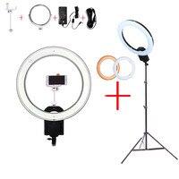 NanGuang CN R640 19 фото/видео/Студия/телефон 640 светодиодный 5600 K камера макро кольцо свет лампы для макияжа фотографии с штатив Стенд